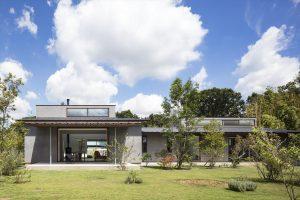 デザイン性の高い平屋外観