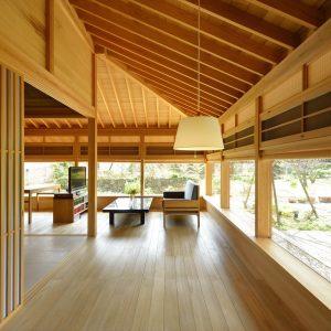 トータルコーディネートした木の家