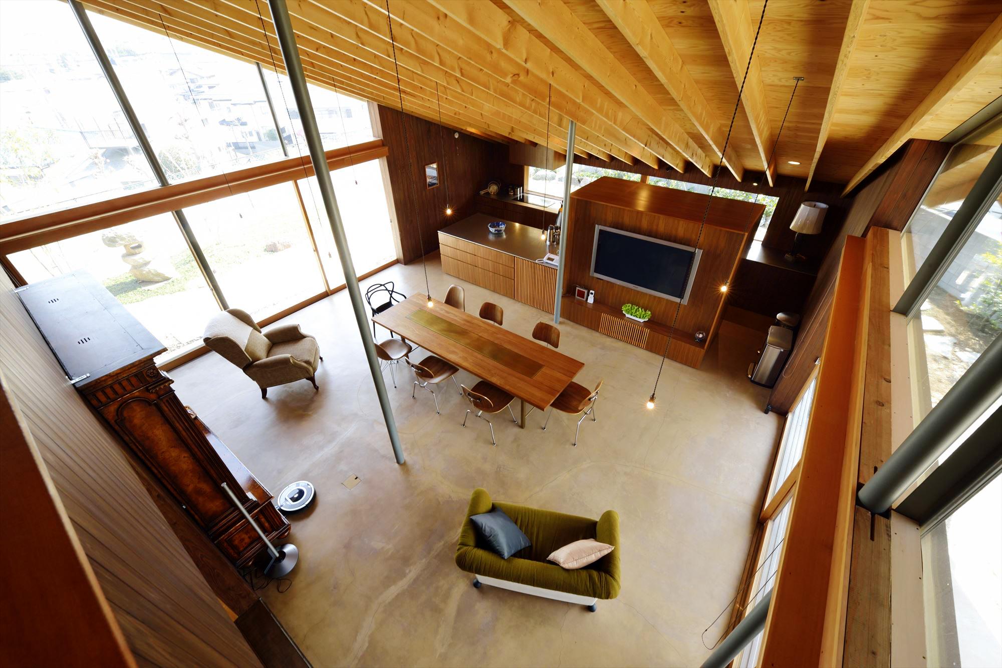 天井が高い開放的なLDK